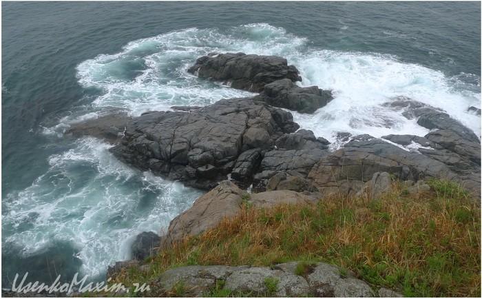 Японское море. Полуостров Гамова. Первые впечатления от скального прибоя