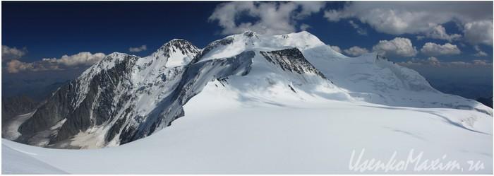 Алтай. Белуха. Вид с западного фирнового плато