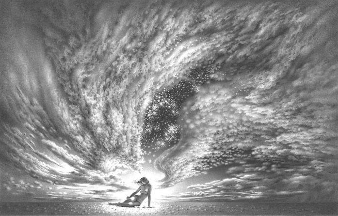 Гурам Доленджашвили. Симфония небес. 27х43 карандаш