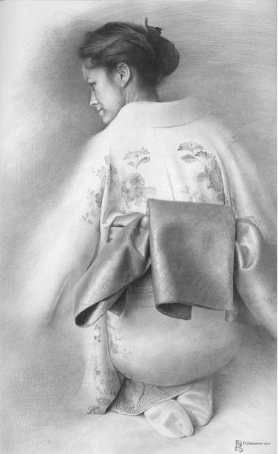 Художник Чернов Денис. Весеннее настроение в осеннем облачении. 63х39 бумага карандаш