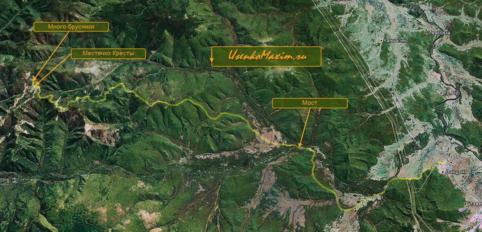 Карта-схема веломаршрута Лондоко