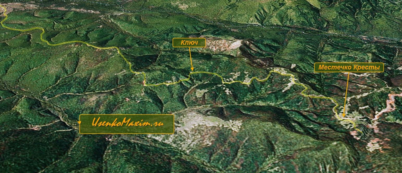 Карта-схема вело маршрута Лондоко. Крупный план