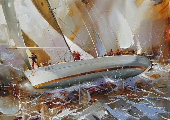 Художник Рамиль Гаппасов. Из серии Регата. 50х70 холст масло