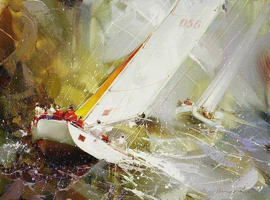 Художник Рамиль Гаппасов. Из серии Регата. 60х80 холст масло