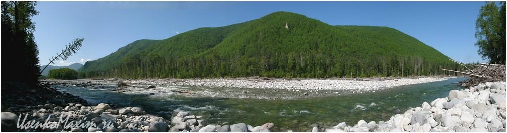 Река Герби в районе первого зимовья