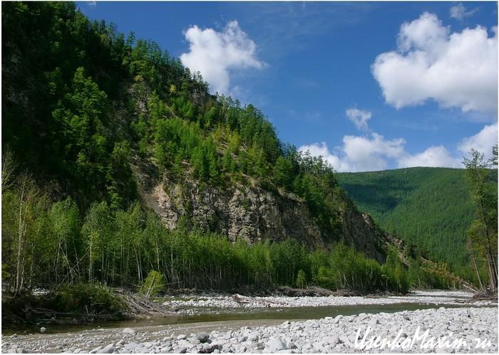 Река Герби. Мелкое русло вдоль левого берега