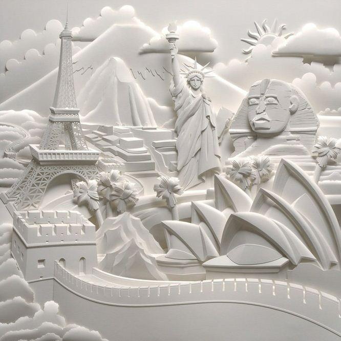 Скульптор Джеф Нишинака. Jeff Nishinaka. Чудеса мировой архитектуры