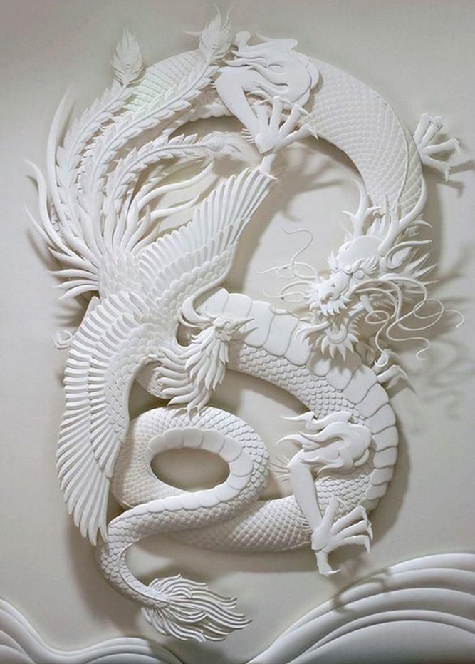 Скульптор Джеф Нишинака. Jeff Nishinaka. Дракон и Феникс