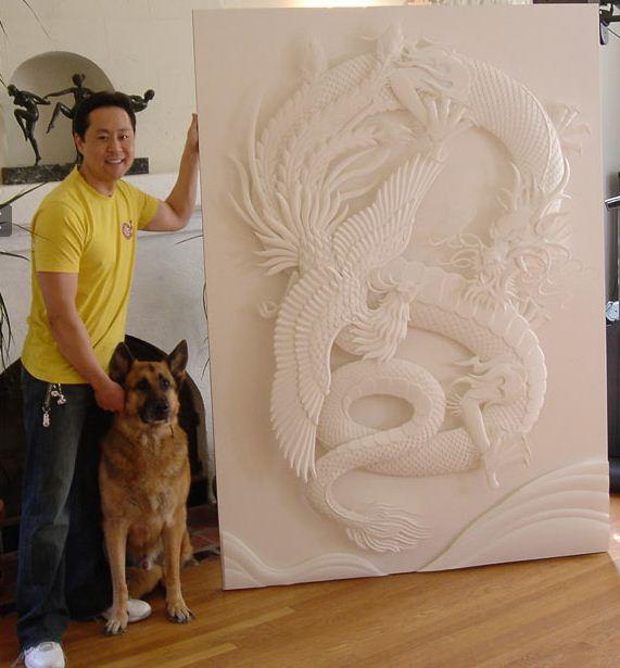 Скульптор Джеф Нишинака. Jeff Nishinaka. У своей работы