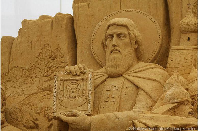 Скульптура из песка Святая Русь. Фото 21