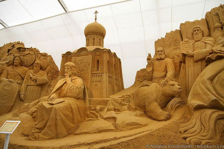 Скульптура из песка Святая Русь. Фото 3