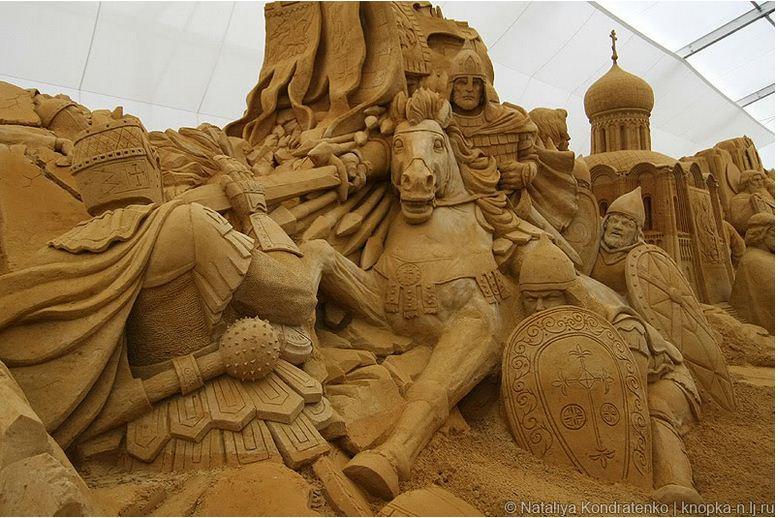 Скульптура из песка Святая Русь. Фото 4