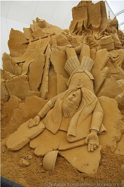 Скульптура из песка Святая Русь. Фото 15