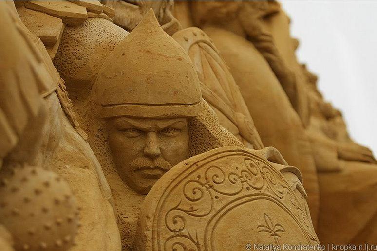 Скульптура из песка Святая Русь. Фото 5