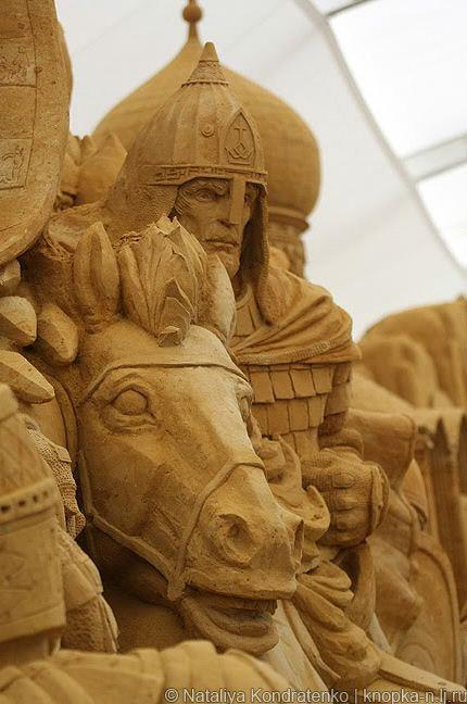 Скульптура из песка Святая Русь. Фото 11