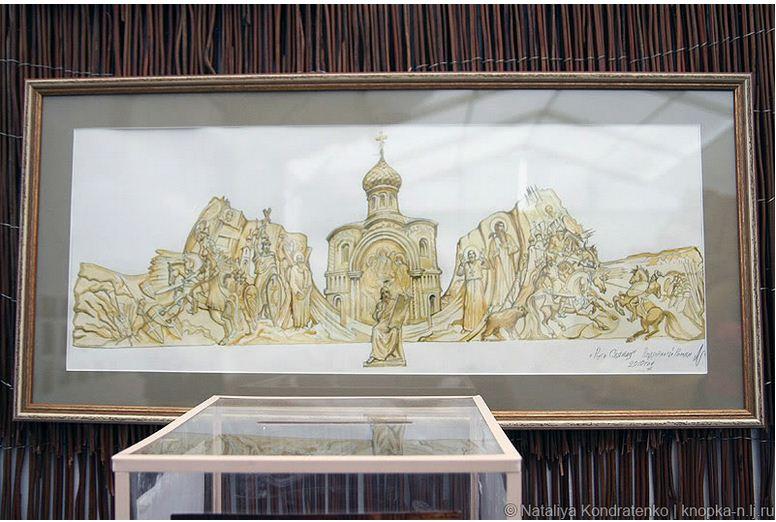 Скульптура из песка Святая Русь. Эскиз