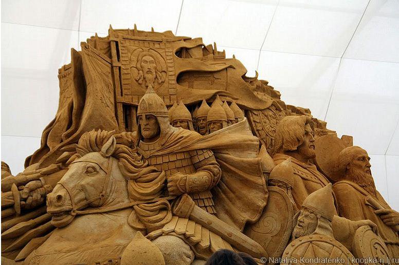 Скульптура из песка Святая Русь. Фото 1