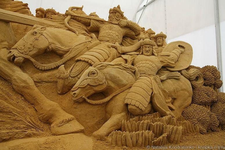 Скульптура из песка Святая Русь. Фото 7