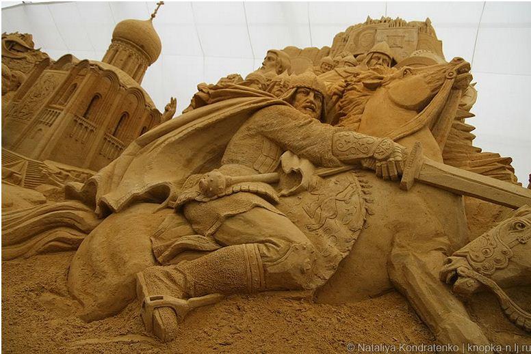 Скульптура из песка Святая Русь. Фото 8