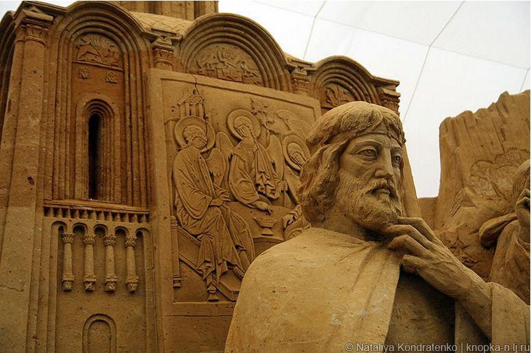Скульптура из песка Святая Русь. Фото 20