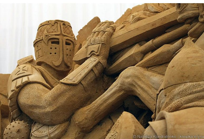Скульптура из песка Святая Русь. Фото 14
