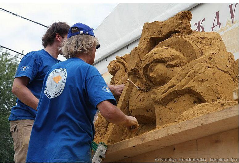 Скульптура из песка Святая Русь. Создатели
