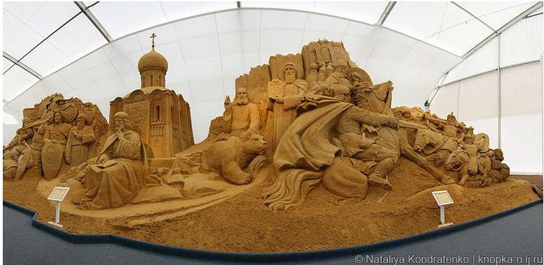 Скульптура из песка Святая Русь. Фото 10