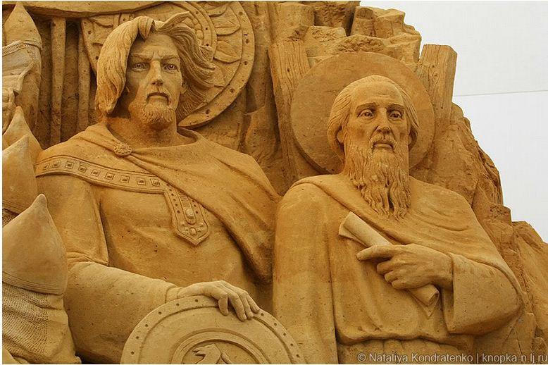 Скульптура из песка Святая Русь. Фото 17