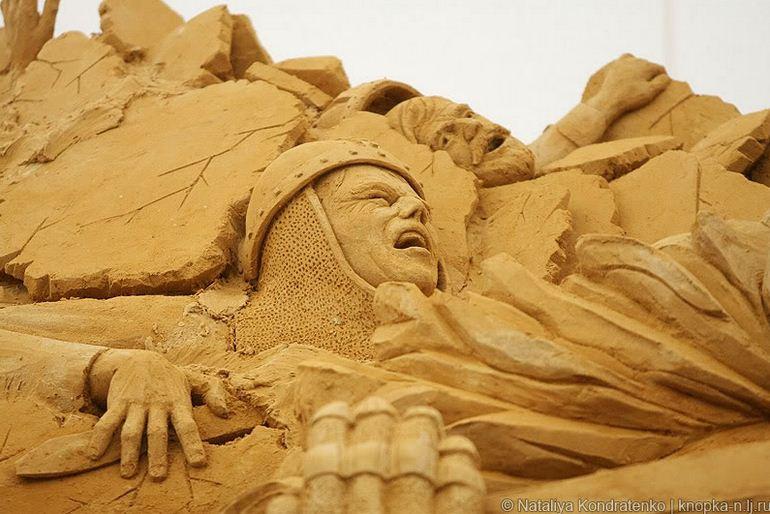 Скульптура из песка Святая Русь. Фото 16
