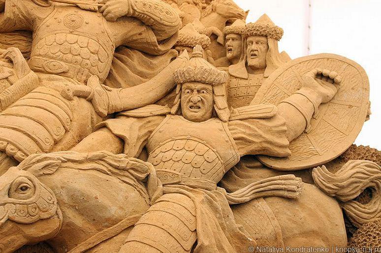 Скульптура из песка Святая Русь. фото 6