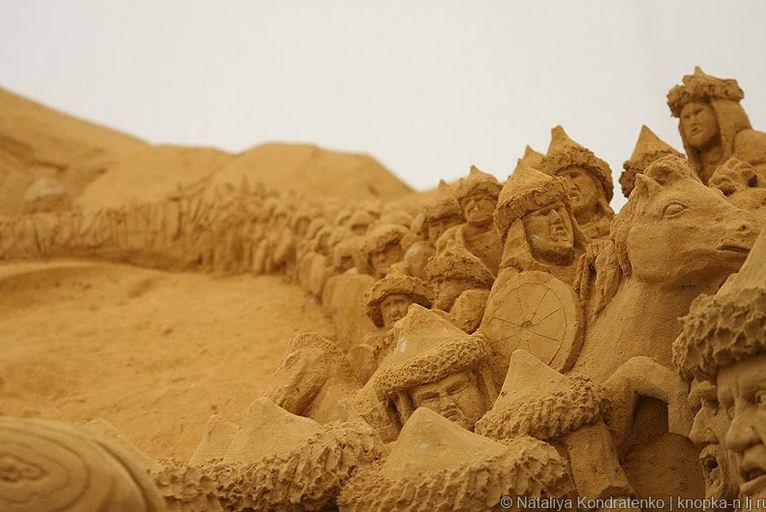 Скульптура из песка Святая Русь. Фото 13