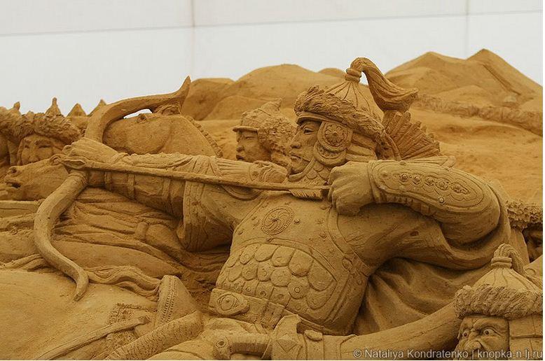 Скульптура из песка Святая Русь. Фото 12