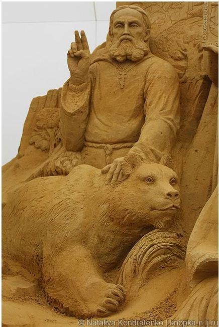 Скульптура из песка Святая Русь. Фото 19