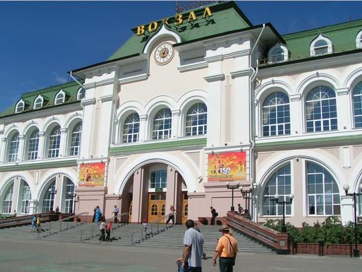 Вокзал города Хабаровск