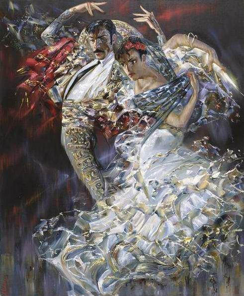 Александр Маранов. Испанский танец. 108х97 холст масло