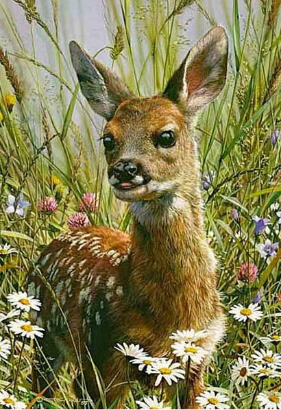 Анималистика Carl Brenders. Весна. Акварель