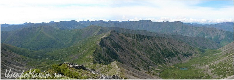 Баджальский хребет. Панорама  с горы Улун