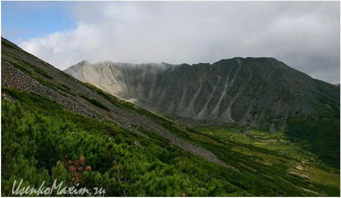 Баджальский хребет. Пробираясь к горе Улун. Верхняя часть оранжевого маршрута