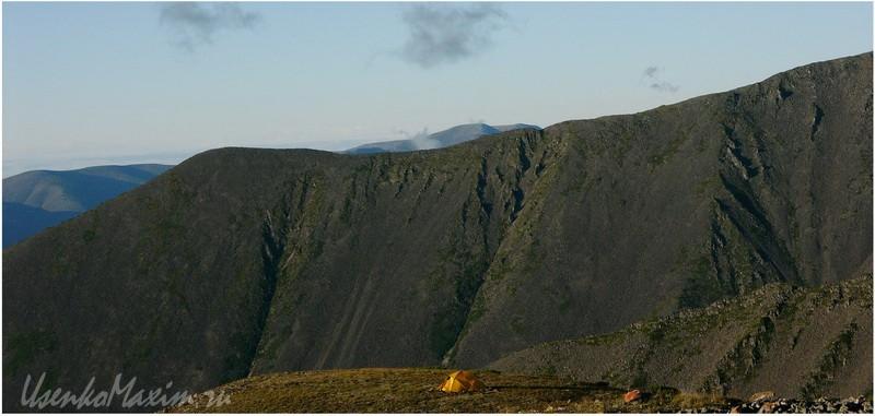 Баджальский хребет. Закат на вершине Купол