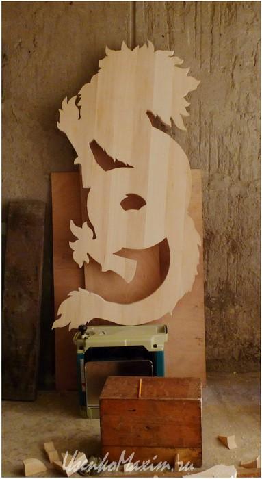 Деревянная скульптура. Готовый профиль