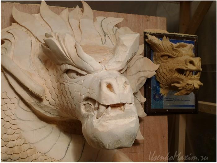 Деревянный дракон. Понемногу проявляются детали
