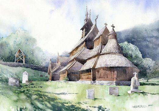 Akvarel-semnadtsataya.-Hudozhnik-Grzegorz-Wrobel