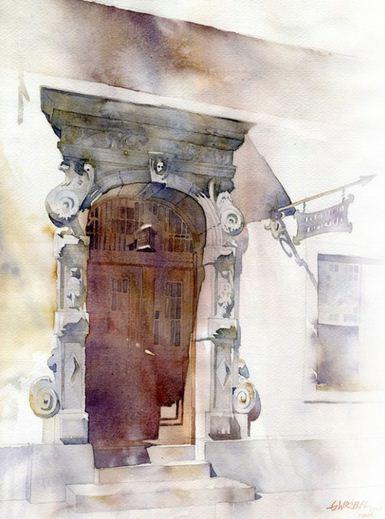 Akvarel-shestnadtsataya.-Hudozhnik-Grzegorz-Wrobel