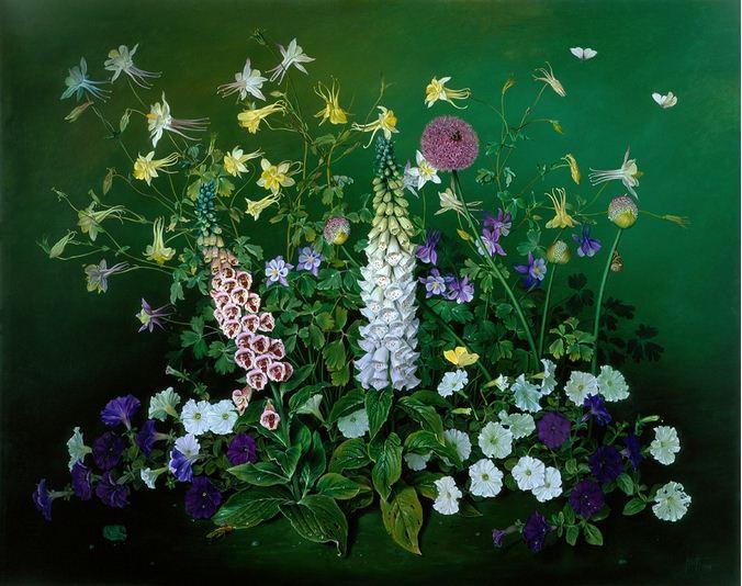 Художник Jose Escofet. Летние цветы. 96х122 холст масло