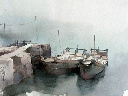Художник Liu Yi. Акварель одиндцатая