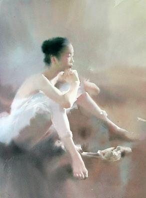 Художник Liu Yi. Акварель первая