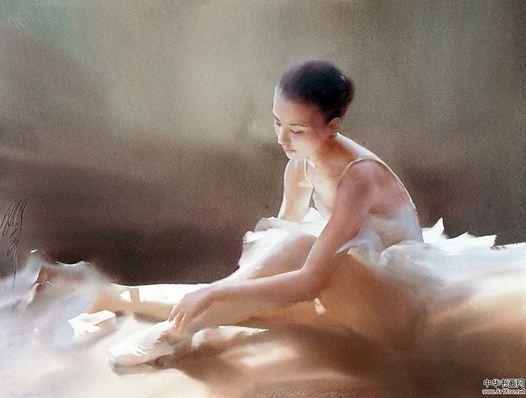 Художник Liu Yi. Акварель седьмая