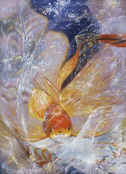 Художник Маранов Александр. Золотая рыбка. 76х57 холст масло