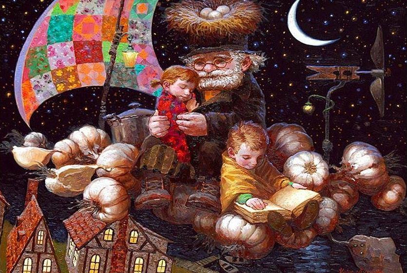 Художник Виктор Низовцев. Детские иллюстрации. Истории в чесноке