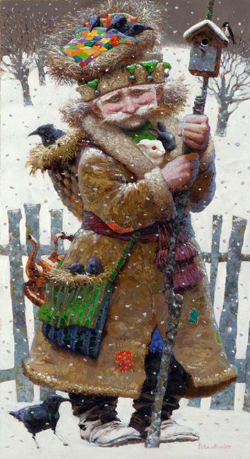 Художник Виктор Низовцев. Детские иллюстрации. Лесовичок